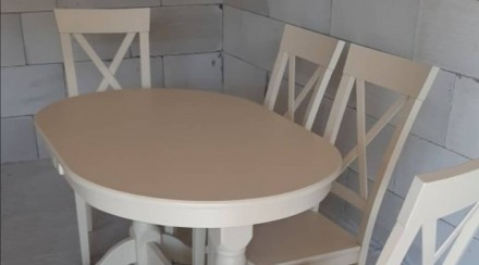 Кухонний набір: колір слонова кость (айворі) або білий Стіл 120х80 +40вставка ц. Одесса, Одесская область. фото 4