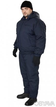 Утепленная рабочая куртка синяя