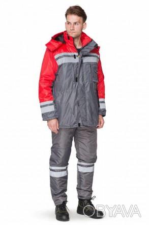 Зимняя утепленная мужская куртка