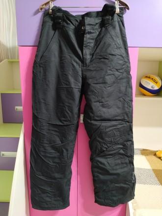 Лыжные штаны, мужские, размер 48-50. Цвет черный. Есть сьемные подтяжки. Внизу ш. Чернигов, Черниговская область. фото 3