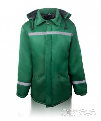 Зеленая рабочая утепленная куртка