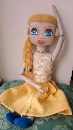 Новая кукла ручной работы. Единственный экземпляр. Высота 51 сан. Ткань хлопок. Киев, Киевская область. фото 8