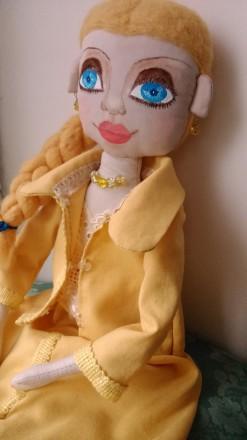 Новая кукла ручной работы. Единственный экземпляр. Высота 51 сан. Ткань хлопок. Киев, Киевская область. фото 3