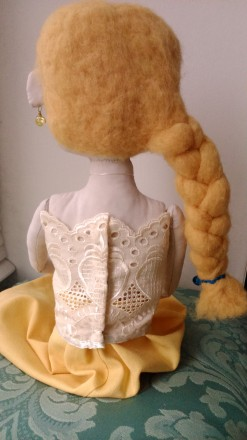 Новая кукла ручной работы. Единственный экземпляр. Высота 51 сан. Ткань хлопок. Киев, Киевская область. фото 9