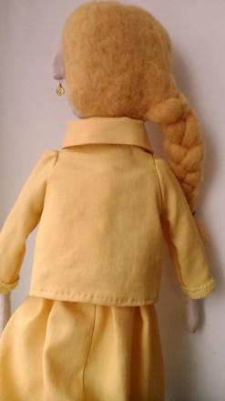 Новая кукла ручной работы. Единственный экземпляр. Высота 51 сан. Ткань хлопок. Киев, Киевская область. фото 5