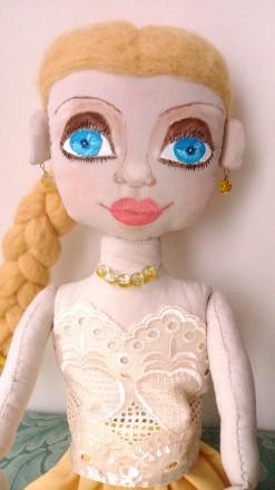 Новая кукла ручной работы. Единственный экземпляр. Высота 51 сан. Ткань хлопок. Киев, Киевская область. фото 11