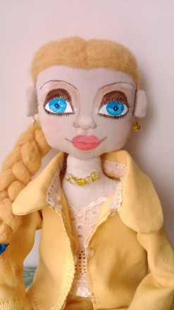 Новая кукла ручной работы. Единственный экземпляр. Высота 51 сан. Ткань хлопок. Киев, Киевская область. фото 2