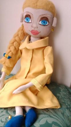Новая кукла ручной работы. Единственный экземпляр. Высота 51 сан. Ткань хлопок. Киев, Киевская область. фото 4