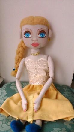 Новая кукла ручной работы. Единственный экземпляр. Высота 51 сан. Ткань хлопок. Киев, Киевская область. фото 10