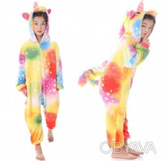 ✅ Детская пижама кигуруми Единорог Звездное настроение 140 см