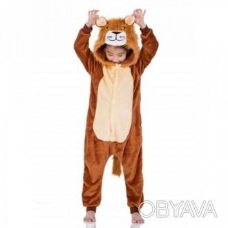 ✅ Детская пижама кигуруми Лев 130 см
