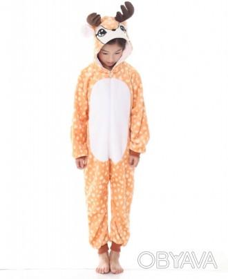 ✅ Детская пижама кигуруми Олененок 140 см