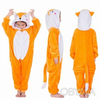 ✅ Детская пижама кигуруми Лисичка 130 см