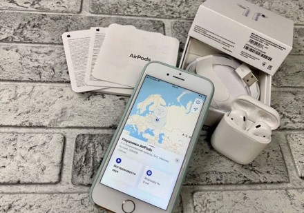 Оригінальні бездротові навушники AirPods 2.  Ми на 100% впевнені в якості своє. Киев, Киевская область. фото 6
