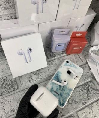 Оригінальні бездротові навушники AirPods 2.  Ми на 100% впевнені в якості своє. Киев, Киевская область. фото 8