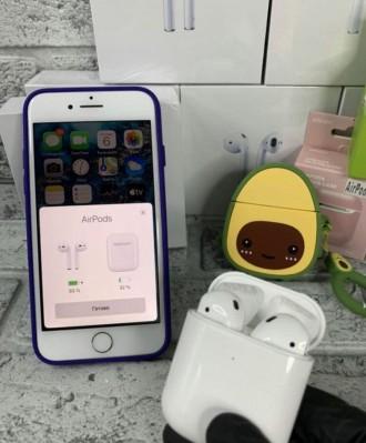 Оригінальні бездротові навушники AirPods 2.  Ми на 100% впевнені в якості своє. Киев, Киевская область. фото 2
