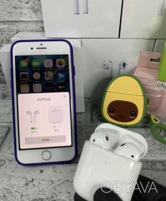 Оригінальні бездротові навушники AirPods 2.  Ми на 100% впевнені в якості своє. Киев, Киевская область. фото 1