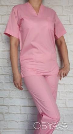 Костюм рабочий медицинский розового цвета
