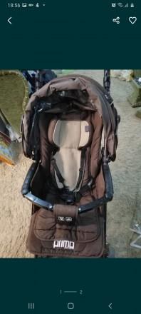 Продам детскую коляску Primo ABC Design. Очень функциональная, коричневый цвет, . Запорожье, Запорожская область. фото 2