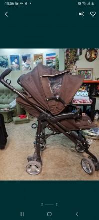 Продам детскую коляску Primo ABC Design. Очень функциональная, коричневый цвет, . Запорожье, Запорожская область. фото 3