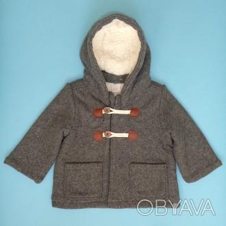 H&M пальто для малыша 6-9 мес. 74 см. детская куртка демисезон дафлкот
