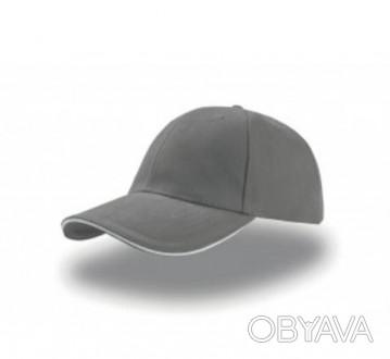 Шестипанельная кепка серая