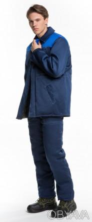 Рабочая куртка с васильковой кокеткой