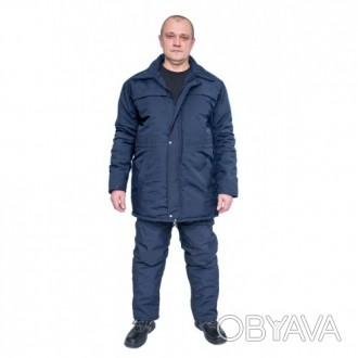 Рабочая утепленная куртка с планкой