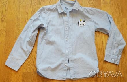 Рубашка -Rebel- на мальчика 7-8 лет, рост 126-128 см, хлопок