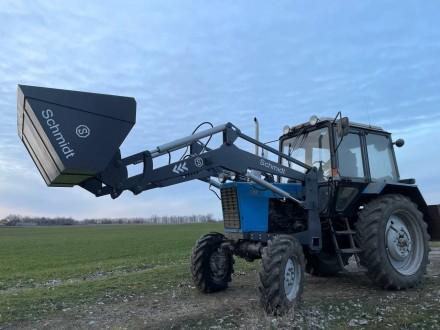 Трактор с КУНом SCHMIDT (фронтальным погрузчиком, аббревиатура от «копново. Запорожье, Запорожская область. фото 9