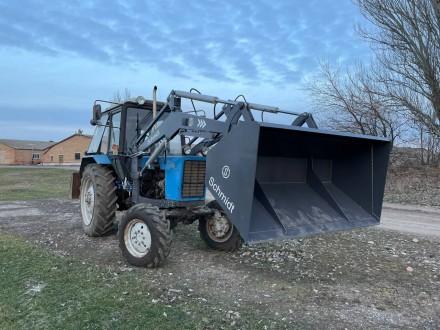 Трактор с КУНом SCHMIDT (фронтальным погрузчиком, аббревиатура от «копново. Запорожье, Запорожская область. фото 5