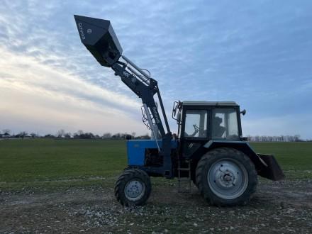 Трактор с КУНом SCHMIDT (фронтальным погрузчиком, аббревиатура от «копново. Запорожье, Запорожская область. фото 7