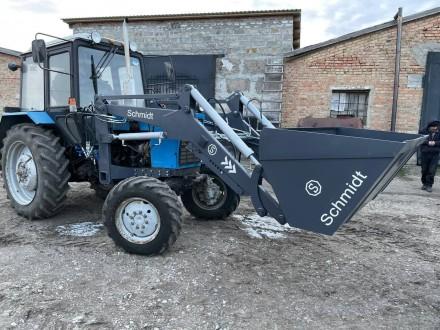 Трактор с КУНом SCHMIDT (фронтальным погрузчиком, аббревиатура от «копново. Запорожье, Запорожская область. фото 10