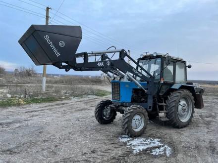Трактор с КУНом SCHMIDT (фронтальным погрузчиком, аббревиатура от «копново. Запорожье, Запорожская область. фото 11