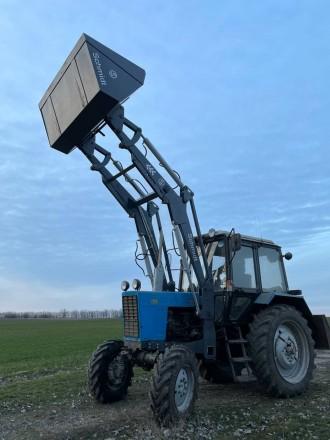 Трактор с КУНом SCHMIDT (фронтальным погрузчиком, аббревиатура от «копново. Запорожье, Запорожская область. фото 8