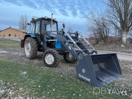 Трактор с КУНом SCHMIDT (фронтальным погрузчиком, аббревиатура от «копново. Запорожье, Запорожская область. фото 1