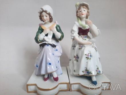 Две дамы KARL ENS, Карл Энс, Германия 1900 Г