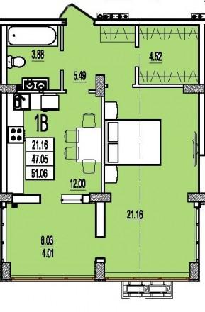 """1-к квартира в строящемся доме (корпус 7), ЖК """"Розенталь"""". Это принцип. Таирова, Одесса, Одесская область. фото 3"""