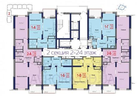 1-но комнатная квартира в новом строящемся доме в самом сердце Черемушек.  Обща. Черемушки, Одесса, Одесская область. фото 3
