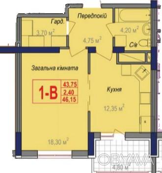 1-но комнатная квартира в новом строящемся доме в самом сердце Черемушек.  Обща. Черемушки, Одесса, Одесская область. фото 1
