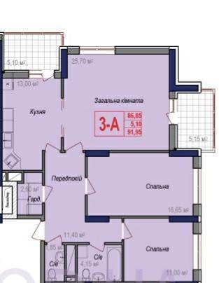 Большая 3-х комнатная квартира для большой семьи! Комфортный новый район удивит . Малиновский, Одесса, Одесская область. фото 3