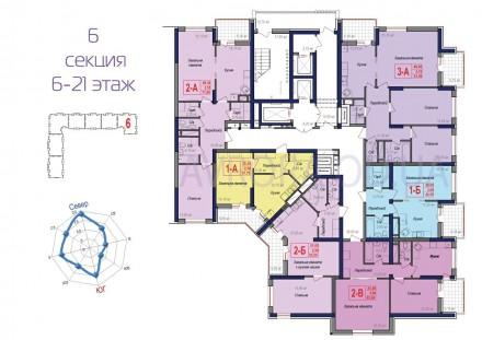 Большая 3-х комнатная квартира для большой семьи! Комфортный новый район удивит . Малиновский, Одесса, Одесская область. фото 5
