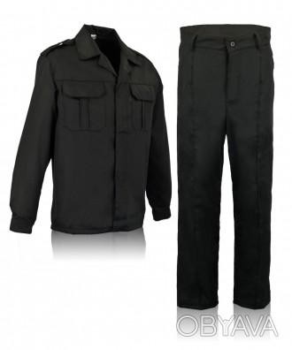 Черный костюм для охранника
