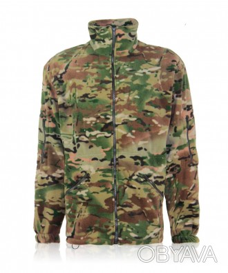 Флисовая камуфлированная куртка