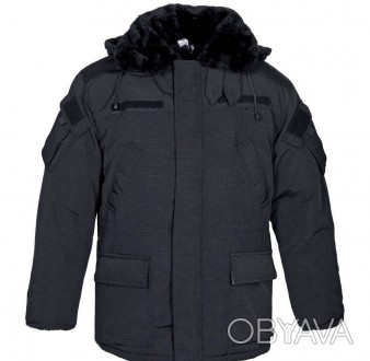 Рабочая куртка утепленная черная