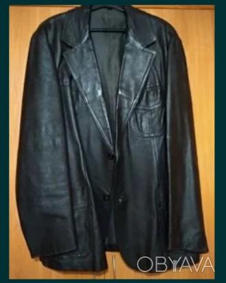Куртка/пиджак /кожа/мужской/52 размер