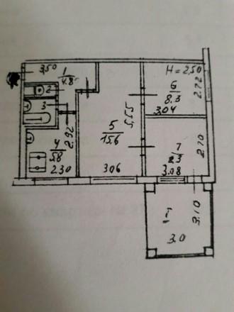 Продам 3-комнатную компактную квартиру 50 м2 с ремонтом и уютом в районе 12 школ. Пухова, Чернигов, Черниговская область. фото 6