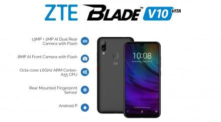 ZTE BLADE V10 Vita 2/32GB Black Состояние близкое к новому, смартфон в бережном. Лохвица, Полтавская область. фото 2