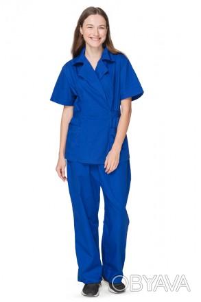 Рабочий костюм уборщици синийРабочий костюм уборщици синий. Состоит из брюк прям