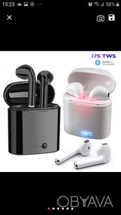 Беспроводные блютуз наушники i7s tws с боксом для зарядки